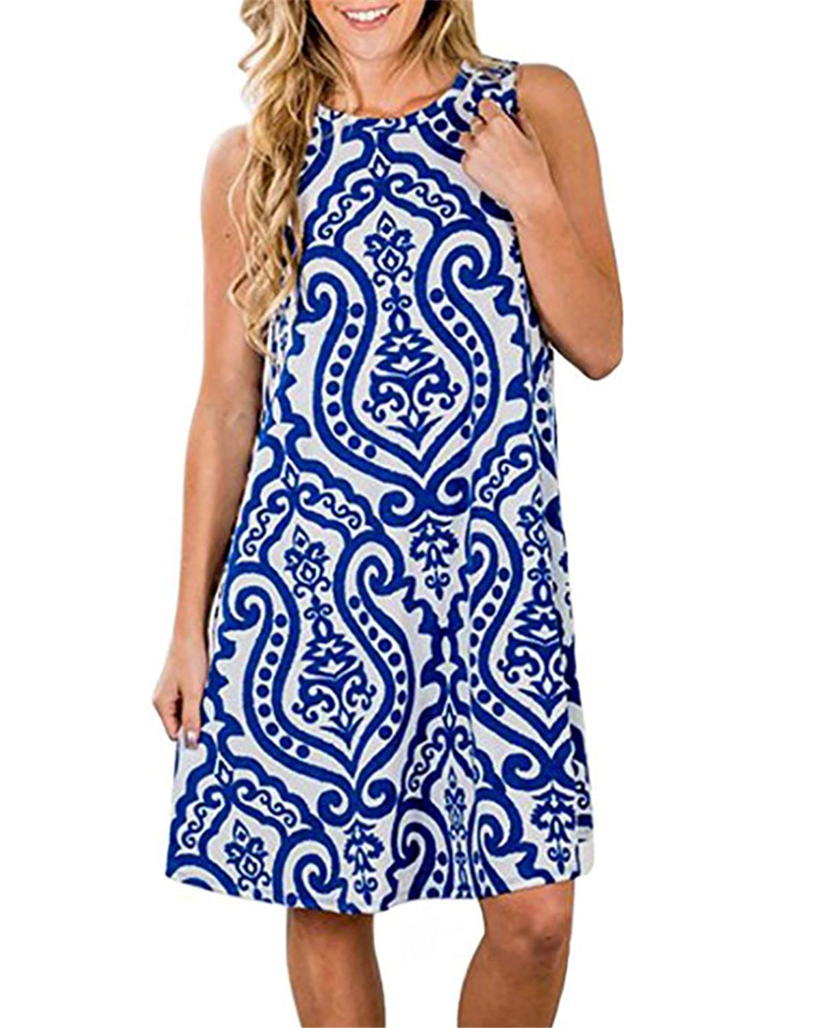 Available at Amazon: Mai Poetry Women's Casual Floral Printed Swing Dress Sundress with Pockets