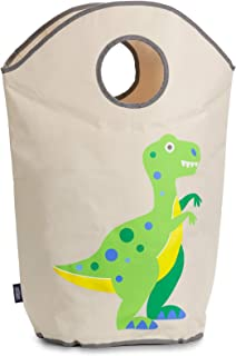 Wildkin Laundry Hamper, Features Mesh Bottom and Two Top Carrying Handles, Perfect for Promoting Organization, Coordinates with Other Room Décor, Olive Kids Design - Dinosaur Land