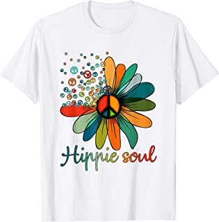 Daisy Peace Sign Hippie Soul Tshirt Flower Lovers Gifts T-Shirt