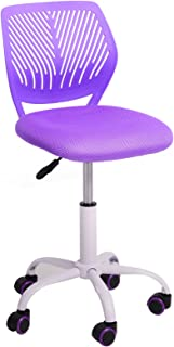 GreenForest Desk Chair for Kids Teens Office Chair with Low Back Armless Adjustable Swivel Chair,Purple