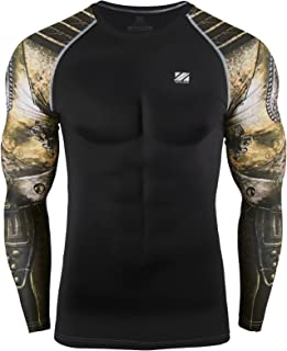 zipravs Compression Shirts Men Long Sleeve Crossfit Jiu Jitsu BJJ MMA Base Layer (S~3XL)