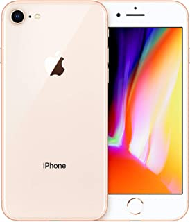 Apple iPhone 8, Fully Unlocked, 256GB - Gold (Renewed)