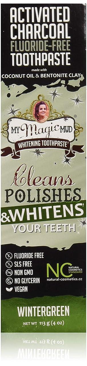 剥ぎ取る支出傾くマイマジックマッドホワイトニング歯磨き粉 (ウインターグリーン)