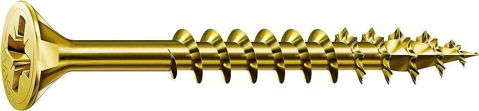 SPAX Universele schroef, 5,0 x 80 mm, 200 stuks, kruiskop Z2, verzonken kop, gedeeltelijke schroefdraad, 4CUT, YELLOX, 029...