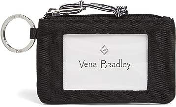 Vera Bradley Lighten Up Zip ID Case, Polyester, Black