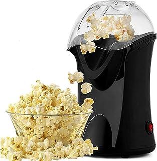Nictemaw Machine à Pop-corn, Appareil à Pop-corn à Air Chaud avec une ouverture large, 1200 W, 16 x 18 x 30 cm