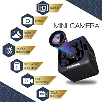 Spy Hidden Camera Nanny Cam - Mini Wireless Cop Cam Action Cameras for Indoor or Outdoor, Home Office or Car Video Re...