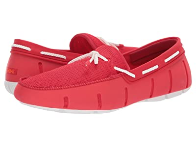 SWIMS Braided Lace Loafer (Red Alert/White) Men
