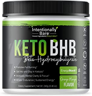 Sponsored Ad - Keto BHB Salts for Easy Ketosis - Caffeine Free Energy, Pre-Workout, Mental Clarity - Beta-Hydroxybutyrate,...