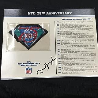 NFL 75th ANNIVERSARY NFL TEAM PATCH CARD Willabee & Ward WORN IN 1994