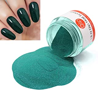 Glitter Green Dipping Powder (Added Vitamins) I.B.N Nail Dip Acrylic Powder, 1 Ounce (DIP 034)