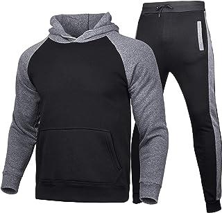 Hakjay Men's Winter Sport Wear Tracksuit Clothes Outfits Set, Jogger Sport Sweatshirt+Long Sweatpants 2 Pcs