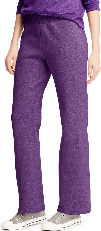 Same day shipping Hanes Women's Petite Ultra-Cheap Deals Open Leg Splendor Heathe Sweatpants Violet