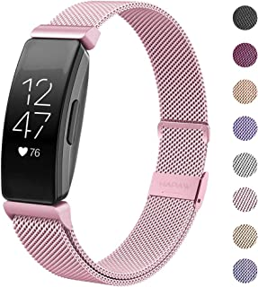 HAPAW Compatible with Fitbit Inspire HR Bands/Inspire Metal Band, Inspire Accessories Stainless Steel Mesh Bracelet Women ...