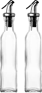 Set of 2 - Oil and Vinegar Cruet Glass Bottles with Dispensers 250ml by Juvale