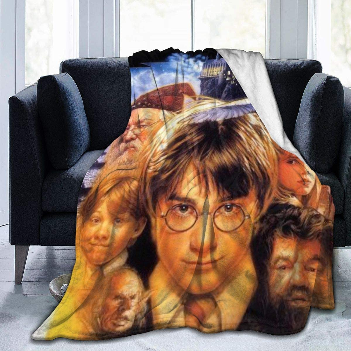 Ha-rry Pot-TER Soft Fuzzy Light Weight 舗 Blanket Bed Warm 期間限定送料無料 Couc for