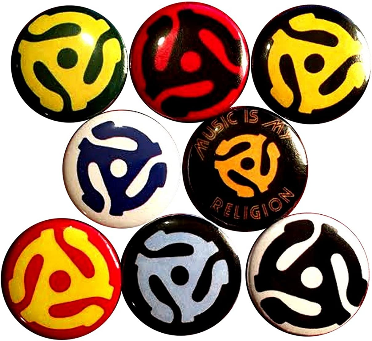 45 Adapter 8 New 1 Inch 25mm Buttons Clearance SALE Limited time Pinback Set famous Badges P of