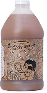 Fire Cider, 64 oz(Half Gallon), Original Flavor, Apple Cider Vinegar Tonic, Pure & Raw, All Certified Organic Ingredients, Not Heat Processed, Not Pasteurized, Paleo, Keto, 128 Shots.