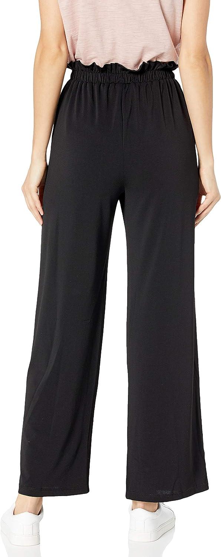 Byer Womens Juniors Wide Leg Elastic Waist Comfortable Pants A