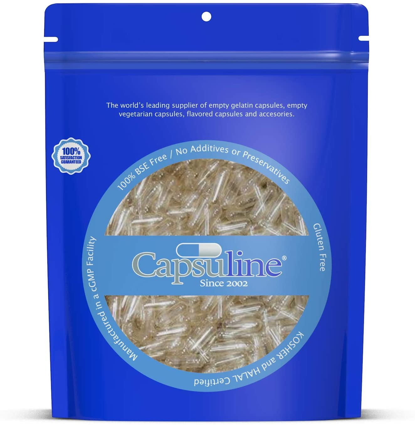 Capsuline Max 77% Max 40% OFF OFF - Size 4 Clear Gelatin Empty 10000 Count Capsules