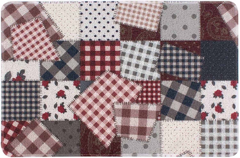 Door mat,Front Entrance Door mat Floor mat Carpet Entrance mat Non-Slip Waterproof Easy Clean-colorful 80x120cm(31x47inch)