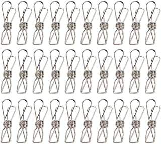 Cabilock 70pcs Multi-purpose Metal Receipt Holders Binder Clips Clamps Hollow Hanging Clothes Pins Pegs for Socks Towel Ph...