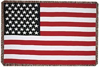 "Simply Home United States American Flag 3 Layer Afghan Throw Blanket 50"" x 70"""