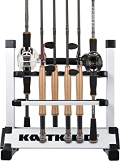 KastKing Fishing Rod Rack – Perfect Fishing Rod Holder - Holds Up to 24 Rods - 24 Rod Rack for All Types of Fishing Rods a...