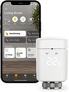 Eve Thermo - Slimme radiatorthermostaat met LED-display, automatische temperatuurregeling, geïntegreerde aanraakbedieninge...