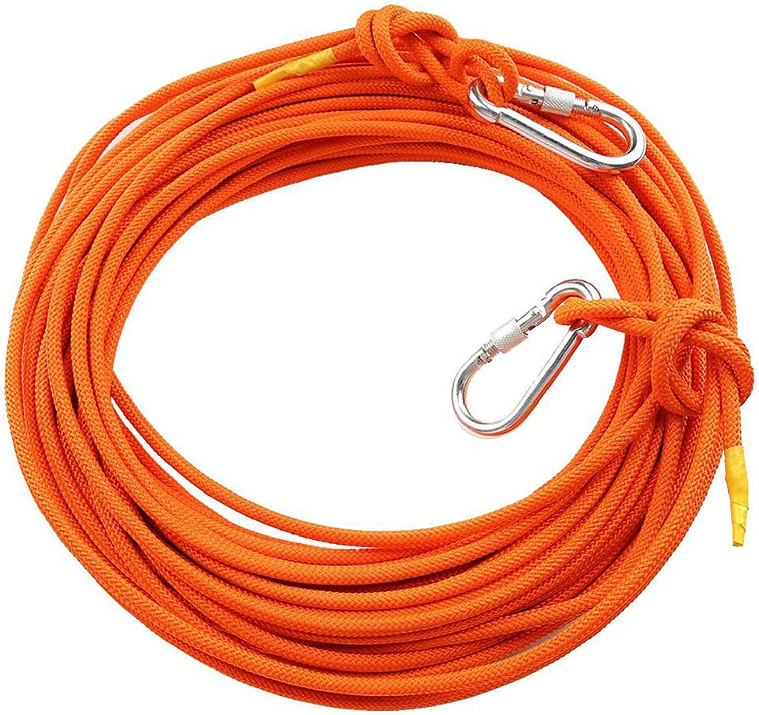 WYX Outdoor Climbing Rope, Diameter 8 Mm High Floor Fire Rescue Rope Escape Self Rescue Rope Emergency Home Fire Safety (color   orange, Size   Diameter 8 mm 60M)