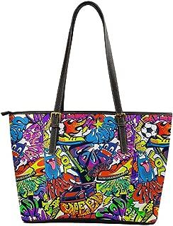 Best graffiti leather bag Reviews
