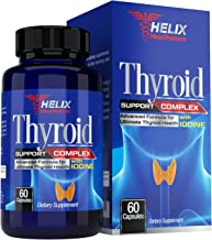 Thyroid Support Supplement with Iodine Kelp and Vitamin B12 for Energy Pills - Best Metabolism Booster for Weight Loss - A...