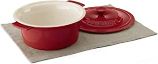 Cuisinart Chef's Classic Ceramic Bakeware-3 Quart Round Covered Baker, Red