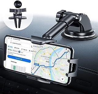 DesertWest - Soporte universal para teléfono móvil y rejilla de ventilación para coche con ventosa [actualización 4.0] Soporte 4 en 1 universal para teléfono móvil para iPhone/Samsung/Huawei/Xiaomi/LG, etc.
