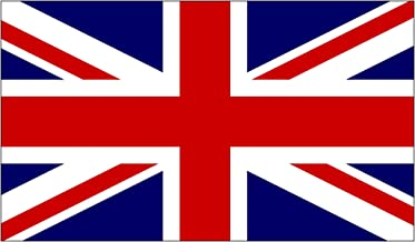 Rogue River Tactical UK United Kingdom Flag Sticker Great Britain British Union Jack Auto Car Window Decal Bumper Sticker (3x5
