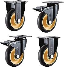 4 stks Meubelwielen Wielen Heavy Duty Rubber Swivel Rem Wiel Meubel Trolley Vervanging Onderdelen (Color : E, Size : 4inch)