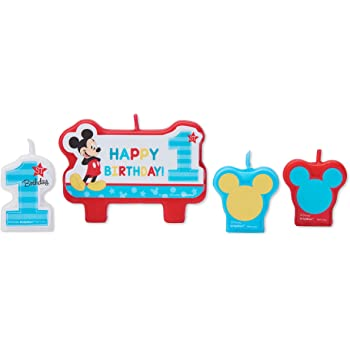 8-Count Amscan 541833 American Greetings 5795243 Mickey Mouse First Birthday 7 Dessert Plates