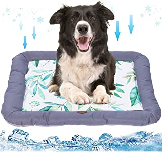 Dog Cooling Mat Pet Self Cooling Mat Pad Ice Silk Cooling Pad for Dogs Cats Breathable Dog Sleep Cushion for Kennel/Sofa/B...