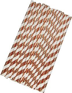 Neviti Paper Rietjes - Rose Gold, 25 stuks