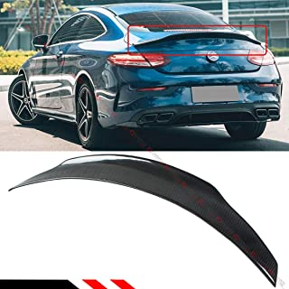 Cuztom Tuning Fits for 2017-2019 Mercedes Benz W205 2 Door Coupe C300 C350 C63 Carbon Fiber PSM Style High Kick Trunk Spoiler Wing
