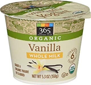 365 Everyday Value, Organic Whole Milk Yogurt, Vanilla, 5.3 oz