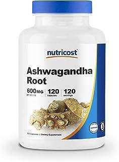 Nutricost Ashwagandha Herbal Supplement 600mg, 120 Capsules - High Quality Ashwagandha Root