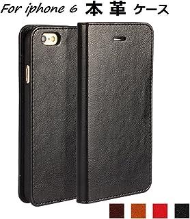 ae2cb17d4a DeftD iPhone 6/iPhone 6S 用 ケース 本革 レザー 手帳型 携帯 カバー シンプル