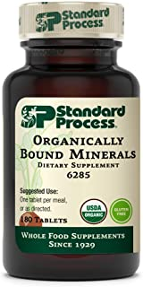 Standard Process Organically Bound Minerals - Whole Food Nervous System Supplements, Iodine Supplement and Thyroid Support...