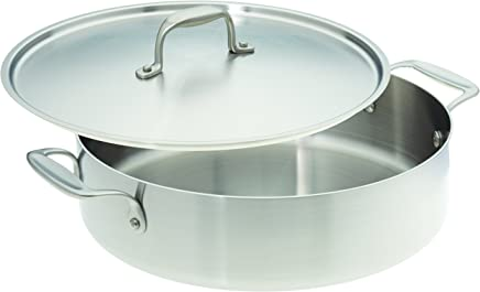 American Kitchen Cookware Stainless Steel Casserole Pan with Lid 12""