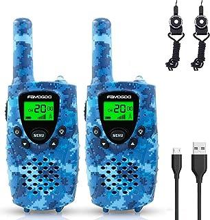 FAYOGOO Kids Walkie Talkies, 22-Channel FRS/GMRS Radio, 4-Mile Range Two Way Radios with Flashlight and LCD Screen