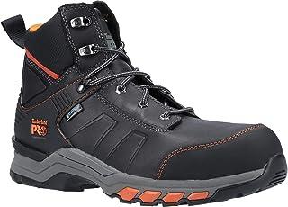 Timberland Pro Hypercharge Bottes de sécurité à lacets en cuir pour homme - Noir - noir/orange, 45 EU
