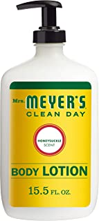Mrs. Meyer's Clean Day Body Lotion, Long-Lasting, Non-Greasy Moisturizer, Cruelty Free Formula, Honeysuckle Scent, 15.5 oz