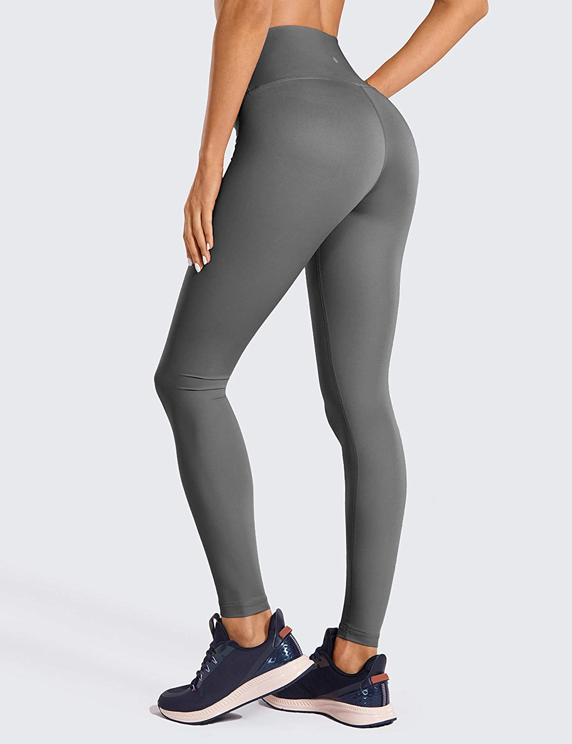 CRZ YOGA Womens Non-See Through Athletic Compression Leggings Hugged Feeling Tummy Control Workout Leggings 25/&28 inches