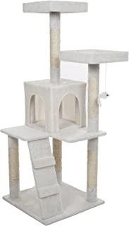PETMAKER Penthouse Sleep & Play Cat Tree,  4',  White